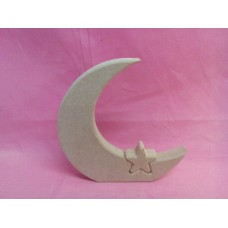 18mm MDF Standing Moon and star